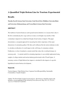 triple bottom line in tourism
