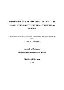 Women entrepreneur thesis