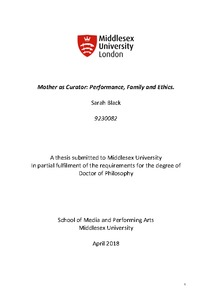 Mother as curator: performance, family and ethics