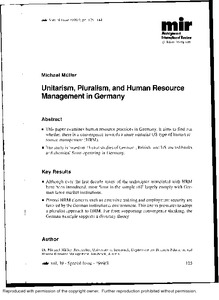 unitarism and pluralism Essay-pluralism frame of reference is describe as a view point that that views employee relation as place of a corporate unity mirrored in a single focus of.