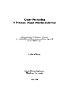 object relational databases phd thesis Relational data record characteristics of heterogeneous objects and persistent  rela-  records category information (eg, phd thesis, technical report) topic.