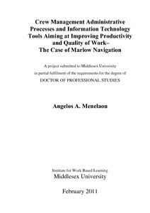 Labour productivity thesis
